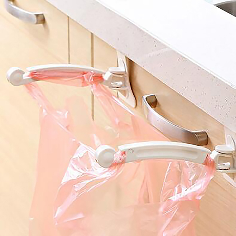 Permalink to 2pcs Kitchen Cabinet Bags Hooks Trash Garbage Bag Hanger Cupboard Door Hanging Rack Holder For Storage Bag Kitchen Accessories