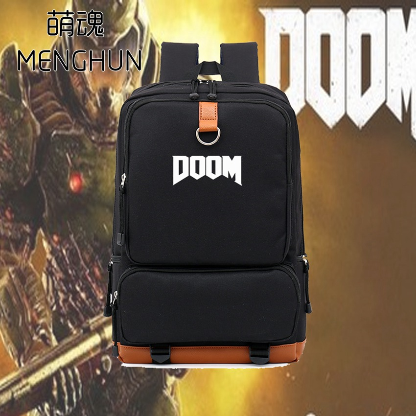 New Game Fans Backpack DOOM Concept Game Backpack DOOM Fans Daily Use Backpacks NB119