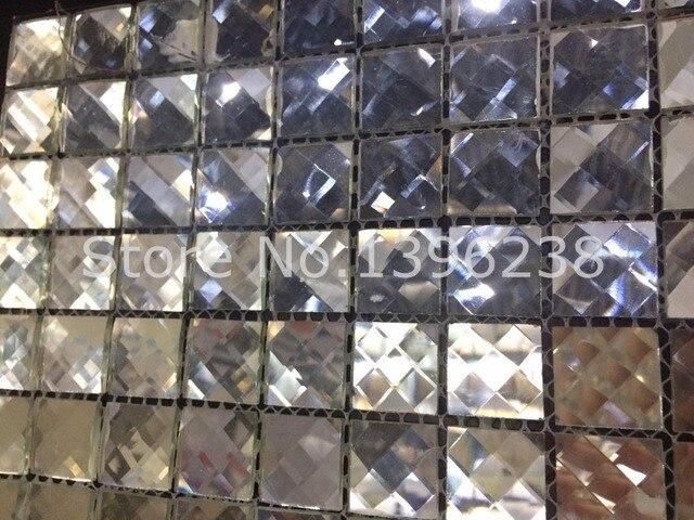 Bordi smussati cristallo lucido diamante specchio mosaico di