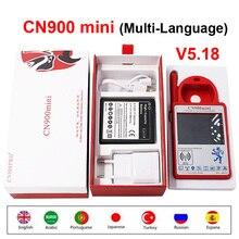 CN900 Mini Più Nuova Versione V5.18 Transponder Programmatore Chiave A Mano tenuto CN900MINI Supporto Multi Lingua per 4C 46 4D 48 G Chip