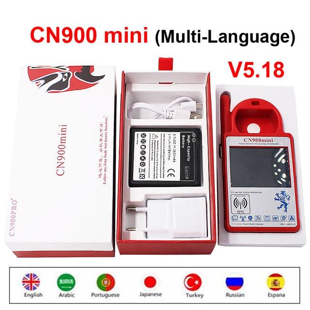 CN900 Mini новейшая версия V5.18 транспондер ручной ключевой программатор CN900MINI поддержка многоязычных чипов для 4C 46 4D 48 G
