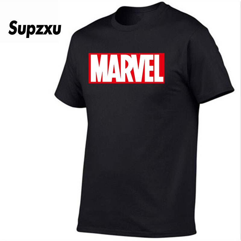 SUPZXU New Fashion Marvel Short Sleeve T-shirt Men Superhero print t shirt O-neck comic Marvel shirts tops men clothes Tee