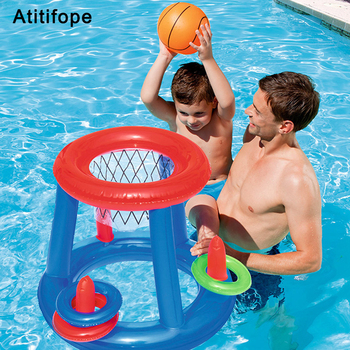 Swim toys Inflatable water play basketball plus 3 rings swimming ...