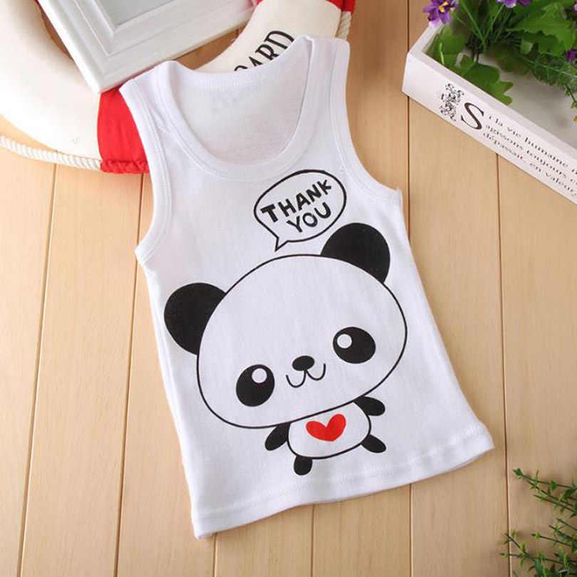 ベビー少年少女夏のベストの Tシャツ子供の漫画の動物の綿の肌着 Tシャツ Tシャツ子供服サイズ 1 2 3 4 5 6 年