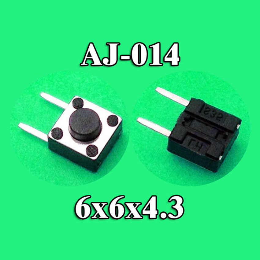 6X6X4,3 DIP tacto táctil Mini interruptor de botón Micro interruptor momentáneo 6*6*4,3mm