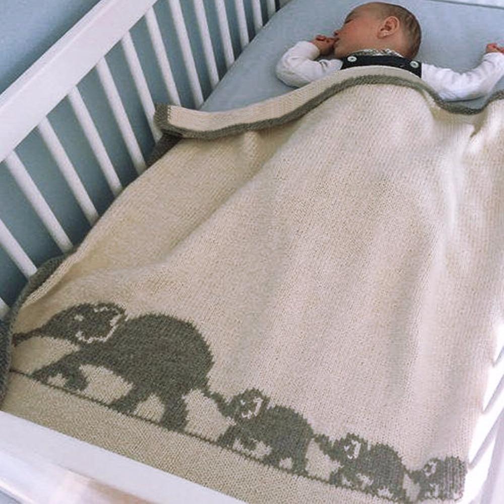Soft Newborn Baby Swaddle Wrap Blankets Animal Elephant Knitted Toddler Boys Girls Throws Quilt Kid Sofa Bedding Blanket Cartoon arnigu brief style soft blanket bedding sofa throws 120x200cm 150x200cm 180x200cm 200x230cm winter bedsheet leisure blankets