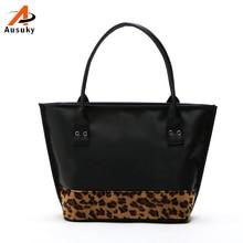 Design Mode Nähen frauen Luxus Leopard Patchwork Handtasche Tragbaren Umhängetasche Berühmte Marke Hohe Qualität 40