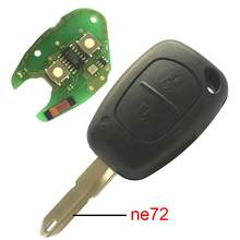 PCF7946 Chip 434MHZ NE72 Blade 2 Buttons DIY Car Remote Key for Renault VIVARO Car Accessory(China)