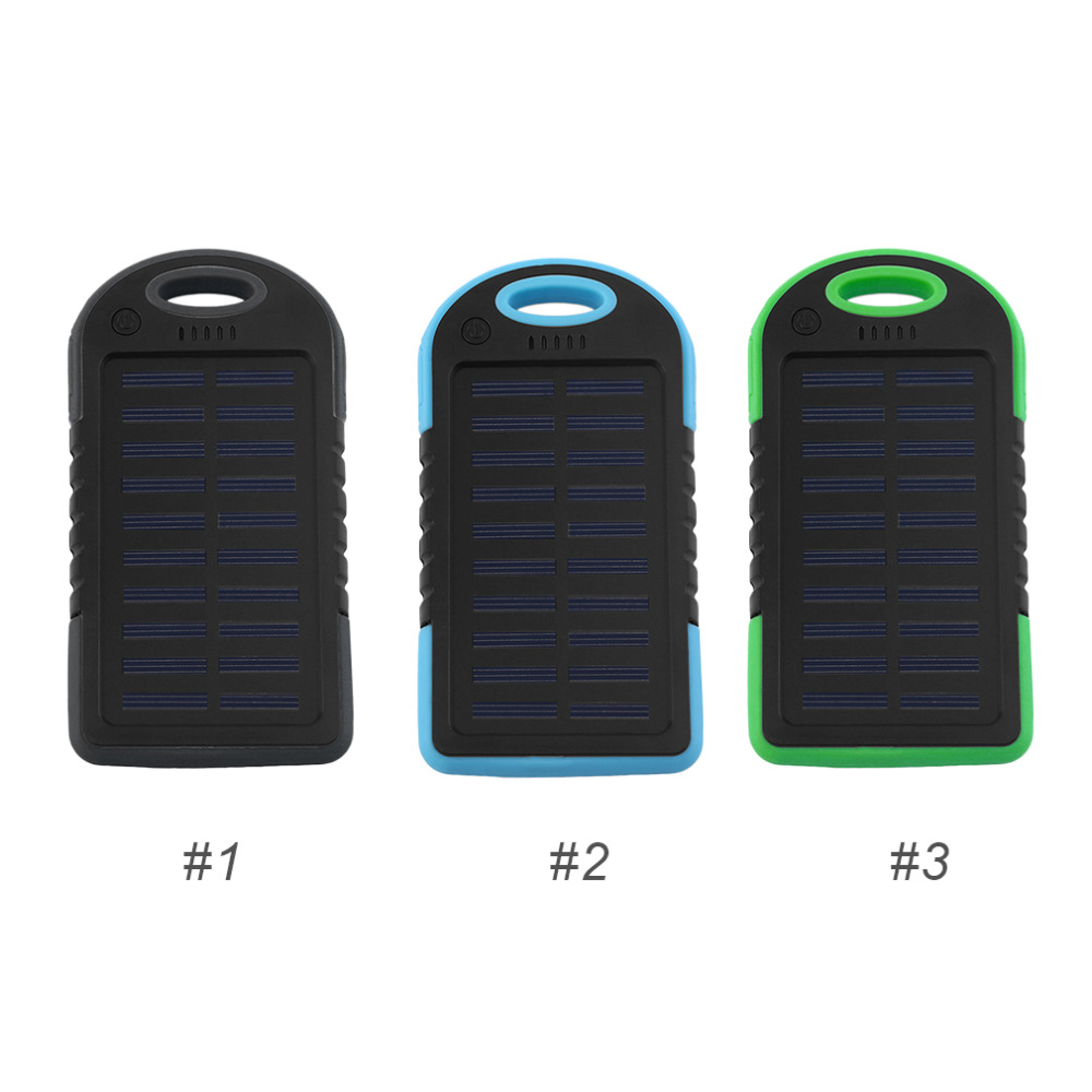 Dual USB 8000MAH Large Capacity Solar Power Bank Battery Charger Power Supply With Flashlight For Smart Phones Charging