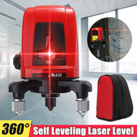 Jiguoor Red 3 Line 3 Point Working Outdoor Laser Level Tools AK455 Quality 360degree Rotating Self Leveling Cross Laser Level