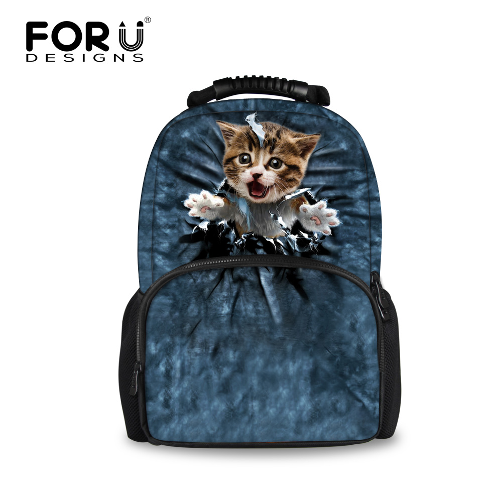 2016 Fashion Kitty Cat Backpack Bag Women School Laptop Bagpack for Teenagers Girls College Student School Backpacks Travel Bags tcttt new 2016 travel bag women laptop backpacks girl brand rivet backpack fashion chains knapsack school bags for teenagers