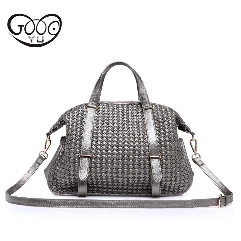 NEW Famous Brand Genuine Leather Bag  Woven Shoulder Bags For Office Hand Bag Women High Quality Designer Purses And Handbags new genuine leather bags for women famous brand boston messenger bags handbags tassel tote hand bag woman shoulder big bag bolso