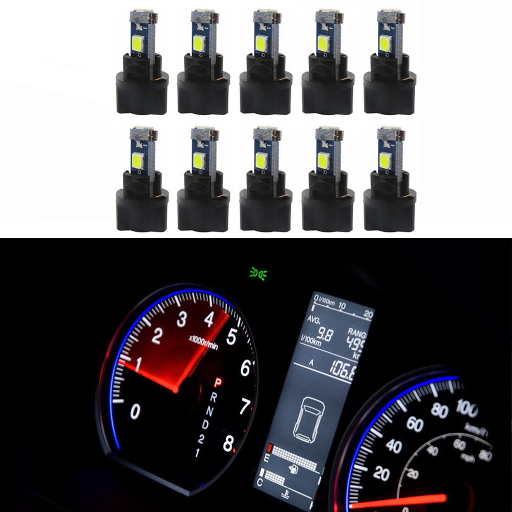 20x T5 17 74 73 3-3014SMD Instrument Gauge Dash Indicator LED Light Bulbs White