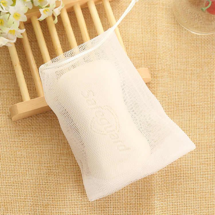 1 Pcs Witte Zeep Blister Mesh Double-Layer Zeep Netto Schuimende Netto Gemakkelijk Bubble Mesh Bag