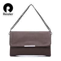 REALER Fashion Women Handbag Solid Lady Day Clutches New Fashion Soft Packet Fashion Female Casual Bags