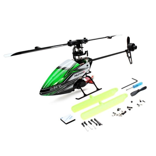 Caliente Nueva Hisky HCP100S 6CH 2.4 Ghz Dual Brushless Flybarless RC Helicóptero BNF Helicóptero de Control Remoto Juguetes de RC