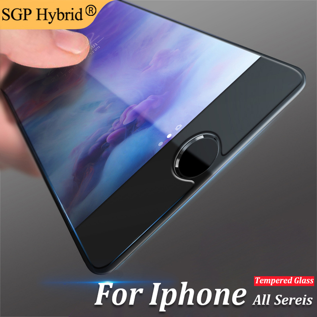 """9H Premium Tempered Glass Screen Protector For Apple iPhone 8 X 7 Plus 6 6s 4.7"""" 6 6s Plus 5 5s 5c se 4 4s Protective cover Film"""