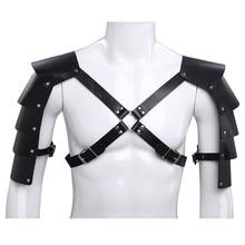 Men Lingerie Zentai Harness Bondage-Costume Tights Shoulder-Armors-Buckles Body-Chest