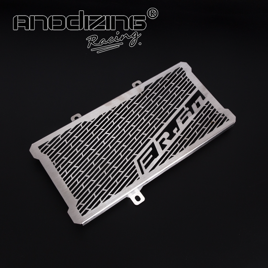 Motorcycle Accessories Radiator Guard Protector Grille Grill Cover For Kawasaki Ninja ER6N ER-6N 2012-2016 motorcycle accessories green radiator protective cover grill guard grille protector for kawasaki z750 z1000 2007 2015 2008 2009