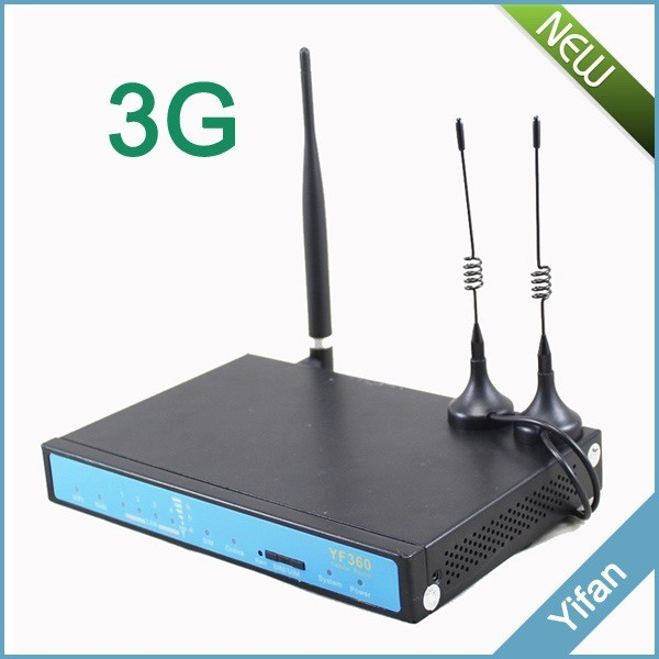 YF360 Series M2M industrial 3G wifi vpn router with replaceable antennas