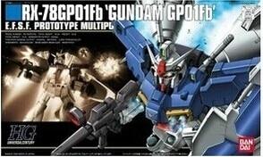 1PCS Bandai HGUC 18 RX-78GP01FB Gundam GP01FB Mobile Suit Assembly Model Kits  lbx toys education  Anime action figure Gunpla ohs bandai mg 179 1 100 sengoku astray gundam mobile suit assembly model kits