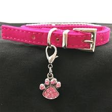 2pcs of charming dog paw-shaped rhinestones pendant