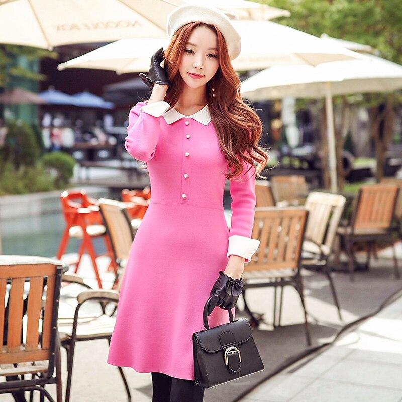 Original 2018 Brand Autumn Winter Knitted Dress for Women Plus Size Brief Fashion Slim Sweater Dresses Women Wholesale