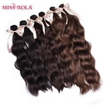 Wefts Miss-Rola Kanekalon Weave Synthetic-Hair Hair-1b-Wavy Hair-Extensions Fiber Sew