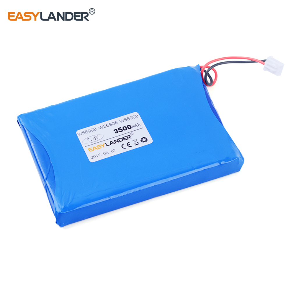 7.4V 3500mAh Rechargeable Li polymer Li ion battery For satlink WS-6902 WS-6905 WS-6918 WS-6922 WS-6925 WS-6926 WS-6939 ws6909 bonu sexy bodycon sweater dress simple elegant dress female winter knitted flare sleeve split dresses for women vestidos