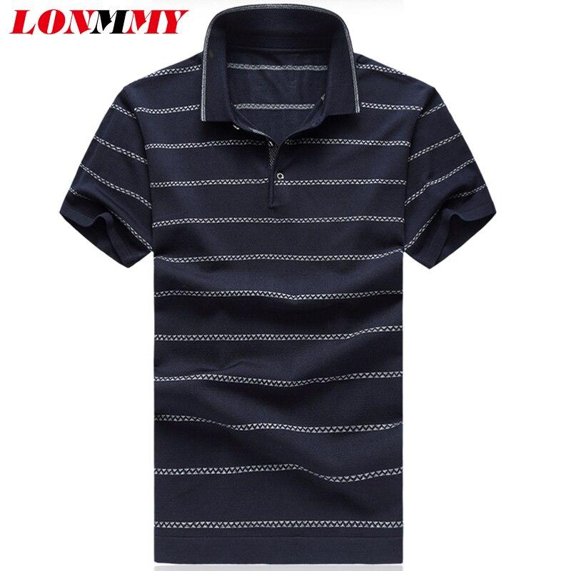 LONMMY 5XL 6XL Polo shirt men Short sleeve natural silk Casual Fashion Lapel men clothes Polo shirts men Red Gray Navy 2018 new