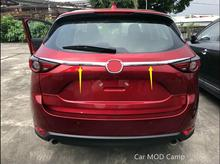 Para Mazda CX-5 2017 2018 CX5 ABS Chrome Rear Tail tronco Cubierta de la Tapa de Moldeo Ajuste Decorativo 2 unids Car Styling accesorios!