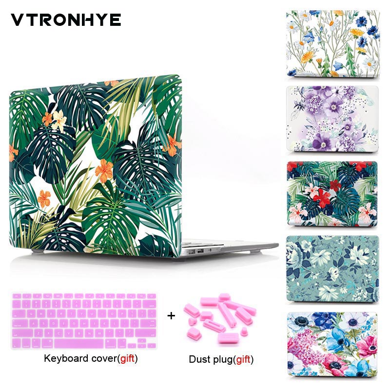 VTRONHYE Laptop Case For Macbook Air Pro Retina 11 12 13 15'' Case for Macbook Pro 13 15 with Touch Bar+Keyboard cover+Dust plug все цены