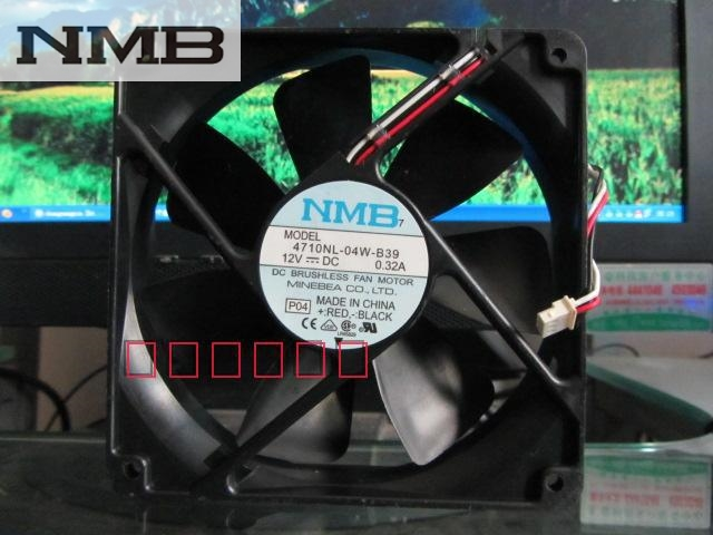 NMB 4710NL-04W-B39 P04 120x120x25mm 12025 12cm 120mm fan DC 12V 0.32A 3-wire server inverter cooling fan 1x solar energy led car auto sticker flash warning light taillights magnetic white shark gills fog lamp safety car styling