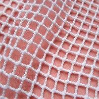 1 Piece 90cm 145cm Grid 100 Cotton Mesh Fabric White Hollow Designer Inelastic Net Fabric Sexy