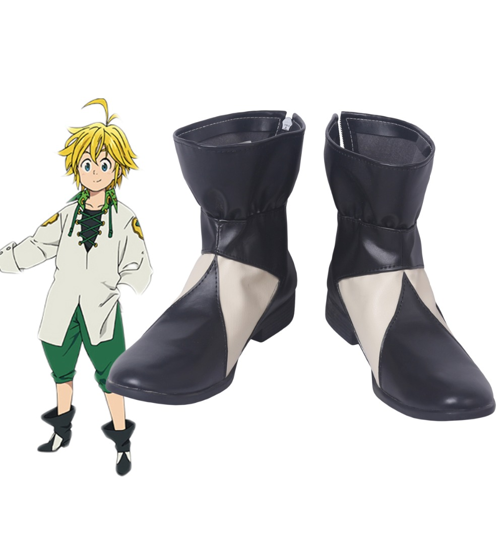 The Seven Deadly Sins 2 Meliodas Cosplay Boots Shoes Custom Made