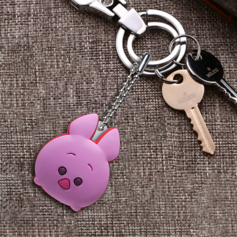 1pcs PVC Keychain Cartoon Figure Metal Ball Chain Key Chain Ball chain Kids Christmas Gift Fashion Charms Trinket in Key Chains from Jewelry Accessories