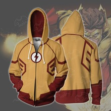 The Flash Comic Cosplay Wally West Anime Hoodie Costume Sweatshirt Jacket Coats Men and Women New