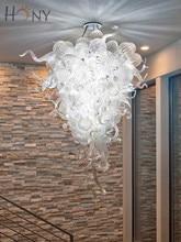 Free Shipping Affordable Wedding Decoration Art Glass Modern Led Chandelier Rectangular