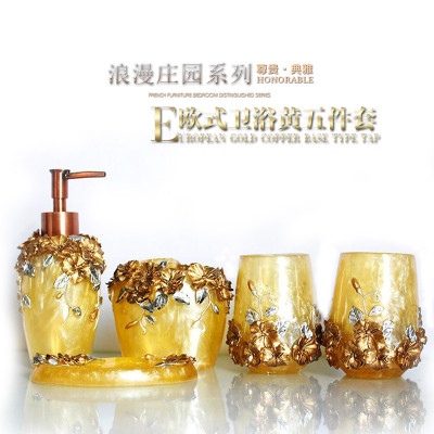 Multi-models Optional Bathroom set resin bathroom set of five pieces bathroom toiletries kit bathroom accessories ...