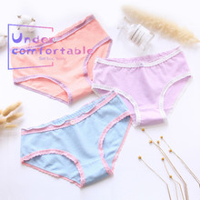 Solid  Macaron Color Women Underwear Fastener Ornament Lady Intimates Lovely Bowknot Lingerie Panties Girls Briefs L023