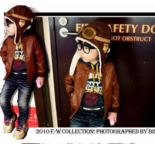 Winter Ear Protector Knitted Hats For Boy/girl/kits Hats,infants Caps Beanine Chilldren-Dot Turtleneck 2pcs/lots  MC23