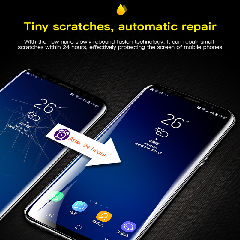 9D Full Cover Soft Hydrogel Film For Samsung Galaxy Note 9 8 S8 S9 S10 e Plus Screen Protector For Samsung S6 S7 Edge Not Glass in Phone Screen Protectors from Cellphones Telecommunications
