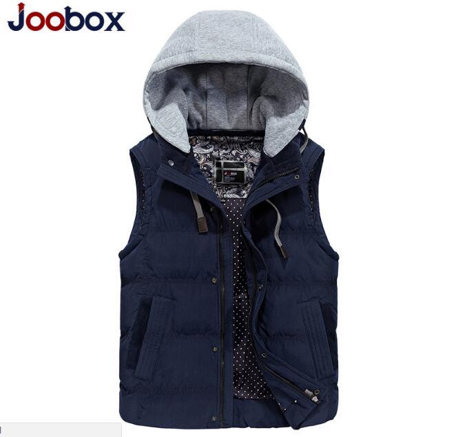 JOOBOX Inverno Gilet Con Cappuccio Da Uomo Caldo di Spessore Giacca Senza Maniche Gilet Stile