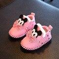 2016 Inverno quente sapatos de bebê da menina do algodão crianças dos desenhos animados princesa sapatos da moda sapatos de crianças de calçados esportivos casuais sapatos da criança recém-nascidos