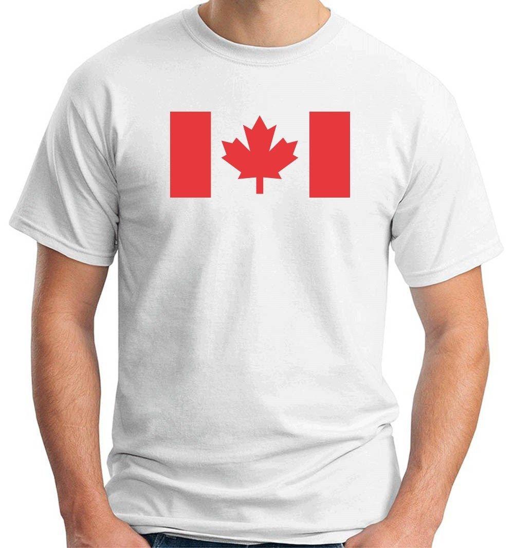 Shirt design canada - 2017 New Arrivals Cool Tm0175 Bandiera Del Canada Canadese Design 100 Cotton Tee Shirt Short Sleeve Tee