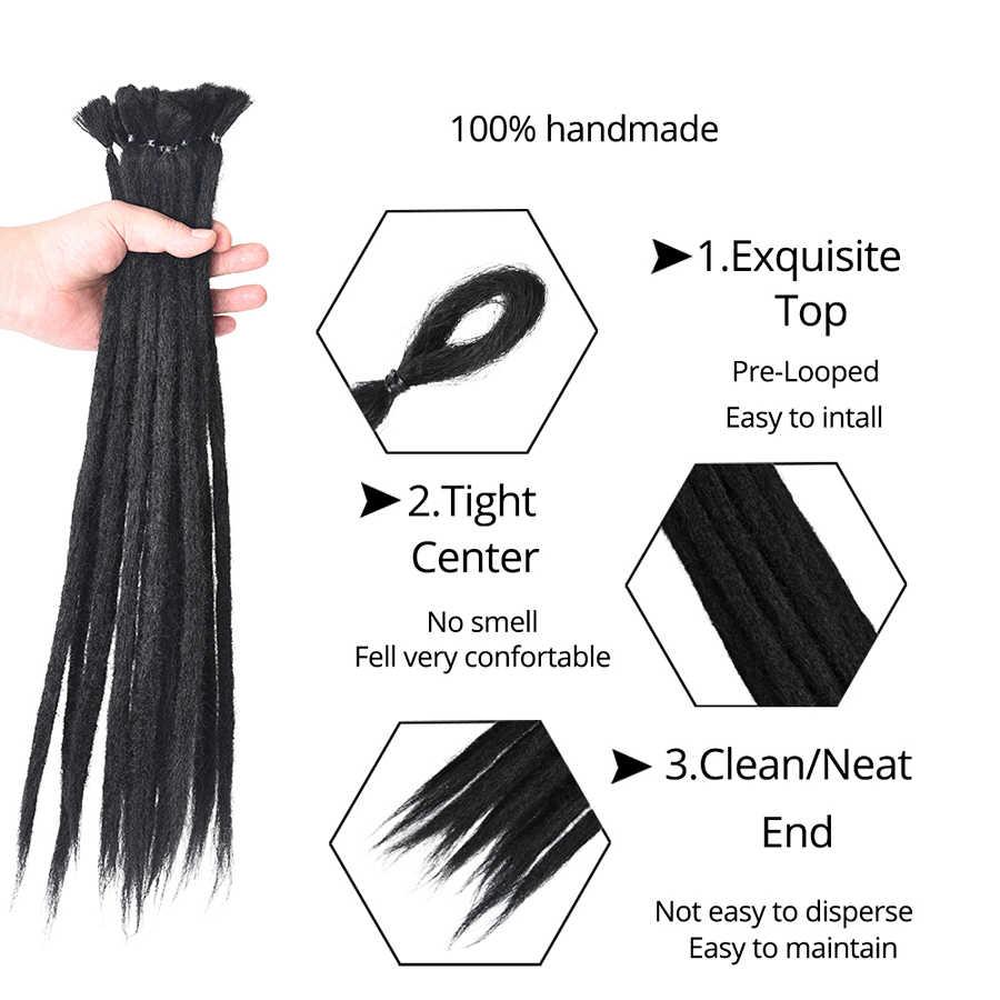 Alileader 20 дюймов синтетические дреды ручной работы 1 корень плетение волос дредс наращивание волос черный блонд коричневый цвет крючком оплетка