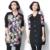 Plus Size Básico Das Mulheres Revestimento do Outono Jaqueta de Algodão Padrão de Impressão de Moda Tamanho Grande Feminino Longo Patchwork Primavera Jaqueta Nova