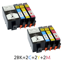 цена на 8pcs Ink Cartridge For HP920 Compatible Printer Ink Cartridge For HP Deskjet 6000 6500 7000 7500A Ink Cartridges With Reset Chip