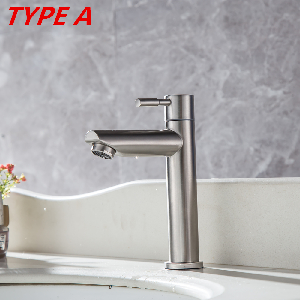 Chrome Bathroom Basin Faucet Sink Mixer Brass Stainless Steel Single Lever Tap