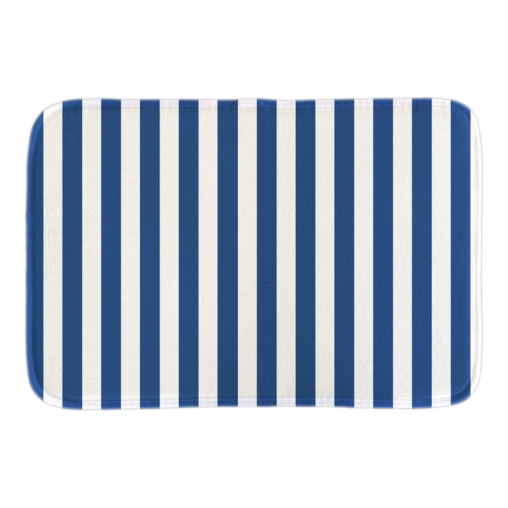 Welcome Doormat Designed With Cobalt Blue White Striped Soft Lightness font b Indoor b font Outdoor
